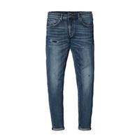 Simwood Printemps Nouveaux Jeans Hommes Skinny Biker Jeans Hommes Déchiré Trou Pantalon De Mode Marque Zipper Fly Vêtements