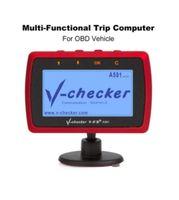 V-checker A501 Ordinateur de voyage OBD II Scanner Lecteur de code de défaut de moteur de voiture CAN Outil de diagnostic