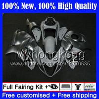 Cuerpo para SUZUKI Hayabusa GSXR1300 plateado blanco 08 09 10 11 12 13 14 15 19MY5 GSX R1300 GSXR 1300 2008 2009 2010 2011 carenado Carrocería