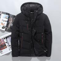 Männer Daunenjacke Marke Kleidung Hohe Qualität Männer Casual Warm Mit  Kapuze Pelzkragen Schlank Unten Mäntel Winterjacken 8331c2900c