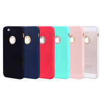 For iPhone 5S SE Case Back Cover Soft TPU Candy color series...