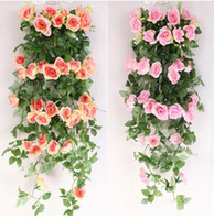 2. 25m Artificial flowers Ivy Vine Fake Silk Roses Home Weddi...