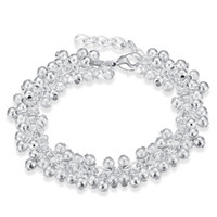Zandlicht Grapevine Armband Sterling Verzilverde armband SPB232; Hot Koop Mannen en Dames 925 Silver Armband Link, Ketting