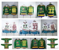 Mighty Ducks 96 Charlie Conway Jersey 99 Adam Banks Anaheim Film 66 Gordon Bombay 21 dean portman 33 goldberg 9 Chandails de hockey Paul Kariya