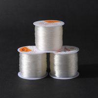 0.5mm 0.6mm 0.8mm 1mm Diámetro Crystal Elástico Rebordear Hilo de Cuerda de Cuerda resultados de joyería para DIY Collar de Moda pulsera