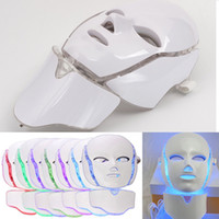 7 Color LED Facial And Neck Mask Microcurrent PDT LED Photon...