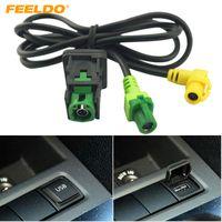 FEELDO Auto OEM RCD510 RNS315 USB Kabel Mit Schalter Für VW Golf MK5 MK6 VI 5 6 Jetta CC Tiguan Passat B6 Armlehne Position # 1698