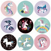 Unicorn Indian Mandala Beach Towel Round Beach Blanket Chiff...
