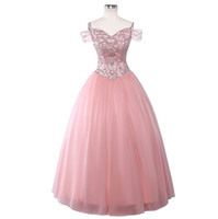 Luxury Beaded Crystal Pink Quinceanera Dresses US10 Ball Gow...