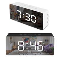 الصمام مرآة المنبه الرقمية غفوة الجدول ساعة يستيقظ ضوء الإلكترونية وقت كبير الحرارة عرض المنزل الديكور ساعة