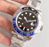 2021 orologio di lusso 40mm ceramica multi-time fuso movimento automatico movimento zaffiro specchio 316L cinturino in acciaio inox orologio da uomo GRATIS confezione regalo