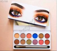 Fabrika Doğrudan Ücretsiz Kargo ePacket Yeni Makyaj Gözler Popfeel 12 Renkler Göz Farı Paleti!