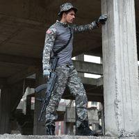 Tuta mimetica tattica CCK Tuta da uomo US Army Multicam Hunting Combat Shirt + Cargo Pants