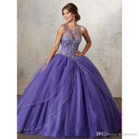 Modest Ball Gown Quinceanera Dresses Sleeveless Appliques La...