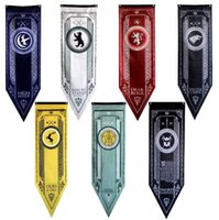 Game of Thrones House Stark Tournament Banner Bandera 45 * 150 cm 11 Estilos Al aire libre Banderas Decoraciones de jardín OOA5382
