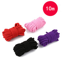 Productos de juego sexual para adultos Tejer cuerdas de lazo Paquetes eróticos Cuerda de sexo de algodón Bondage Larga 10M Juego de juguetes sexuales de rol Roleplay Suave y seguro