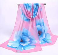Alta calidad grandes flores estampados bufanda suave chales para mujeres chica verano playa abrigos bufandas Beach Lady Shawl