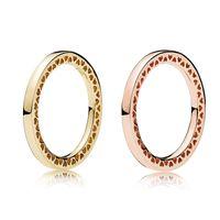 Anello in oro rosa 925 sterling radiante cuori Anello originale per gioielli Pandora Anello in oro per le donne Miglior regalo