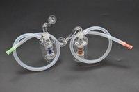 Tuyau de bong en verre mini pas cher downstem Design unique Mini-conduites d'eau en verre Recycleur Plate-forme pétrolière avec tuyau et cuvette