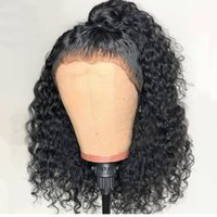 Brazilian hair Lace Front wigs Short Curly Full Lace wigs Hu...