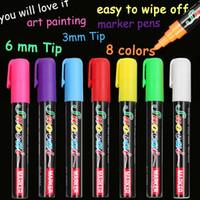 8 Cores Highlighter Marcadores de Giz Líquido Para Escola Arte Pintura Roundchisel Dica 6mm 3mm Frete Grátis