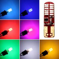 50Pcs T10 W5W del gel di silice 194 168 3014 24 SMD LED laterale dello stroboscopio lampeggiante lampadina Bianco Giallo Blu Rosso Verde Ice Blu Rosa