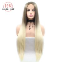 Honrin Hair Brown To Blonde Two Tones Ombre Silky Straight W...