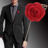 여러 가지 빛깔의 꽃 브로치 남자 꽃 브로치 핀 비즈니스 정장 옷깃 핀 웨딩 신랑 액세서리 선물 도매