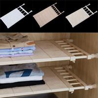 조정 가능한 옷장 정리기 보관 선반 벽걸이 식 주방 캐비닛 랙 공간 절약 옷장 선반 내각 홀더 무료 DHL WX9-1080