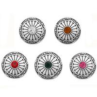 10 шт. / лот новый круглый Оснастки кнопки ювелирные изделия металлический цветок имбирь 18 мм Оснастки кнопки подходят браслет браслеты аксессуары