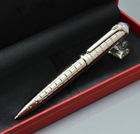 Luxury Carties brand silver metal grid ballpoint pen with hi...