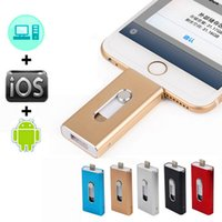3 in 1 USB flash sürücü iphone 8 7 Samsung s7 s6 için Pendrive OTG Pendrive huawei U Disk memory stick