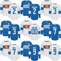 2016 Чемпионат мира по хоккею Финляндия команда Джерси 2 Юрки Jokipakka 3 Олли Маатта 7 Эса Линделл 9 Микко Койву пользовательские хоккейные майки