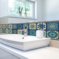 COSY MOMENT 20 * 100 Cm Barock Stil Simulation Stein Fliesen Wandaufkleber  Küche Schlafzimmer Dekorative Selbstklebende Tapete QT517