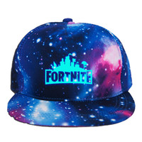 Fortnite Luminous Caps Teenager baseball cap 2018 summer sun...