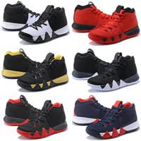 online retailer 5a6af d8ae2 Calidad superior 4 Confetti Kyrie Baloncesto zapatos venta barata tienda  Kyrie Irving zapatos precios al por mayor US7-US12