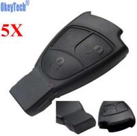okeytech 5pcs / lot 메르세데스에 대한 원격 자동차 키 케이스 벤츠 MB C e ml S SL SLK CLK AMG 소프트 3 버튼 스마트 자동차 키 교체 FOB