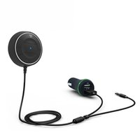 블루투스 차량용 키트 핸즈프리 3.5mm AUX 수신기 어댑터 NFC 기능 오디오 음악 삼성 아이폰을위한 USB 차량용 충전기