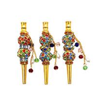 Alta Qualidade Handmade Alloy Hookah Boca Colorido Diamante Árabe Shisha Narguile Filtro Acessórios Para O Cachimbo de Água Bico