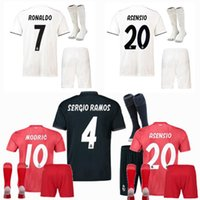 2018 2019 Real Madrid Kids soccer jerseys kits 18 19 Home aw...