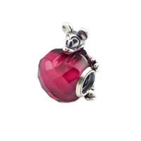 2018 925 فضة مجوهرات الأحمر الحب القلب سحر الخرز الأصل يناسب النساء صنع المجوهرات باندورا أساور