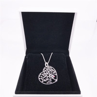 Tree of Love Necklace Authentic 925 Sterling Silver with cle...
