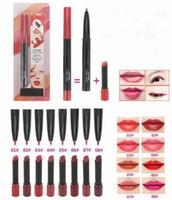 Nuevo maquillaje caliente labio dúo de labios labios labios lápiz labial lápiz labio retro mate lápiz labial 8 colores de alta calidad DHL envío