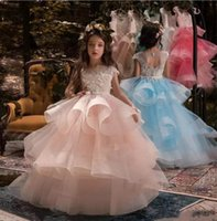 Capped Sleeve Lovely Girl' s Pageant Dresses 2018 Puffy ...