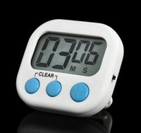 Büyük Manyetik LCD Dijital Mutfak Geri Sayım Alarm Standı ile Beyaz Mutfak Zamanlayıcı Pratik Pişirme Zamanlayıcı Çalar Saat