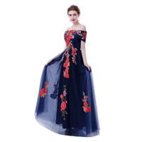 Fadistee 새로운 도착 우아한 새틴 드레스 이브닝 드레스 댄스 파티 지퍼 민소매 정식 긴 보트 넥 꽃 스타일