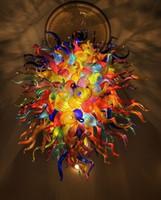 Lâmpadas Penant colorido Estilo Mão soprado lustres de vidro pendurado cadeia Suspensões DIY iluminação de teto LED para New House Decoration