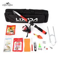 Lixada 2.1m 낚싯대 릴 콤보 풀 키트 회전 릴 권총은 가방 케이스 낚시 세트 Pesca에서 유혹 회전 도구 세트와 함께 설정