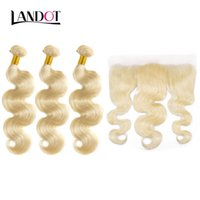 9A Grade Blonde Color 613 Virgin Brazilian Hair Weave Bundles Body Wave Peruvian Malaysian Indian Russian Human Hair Extensions Can be Dyed