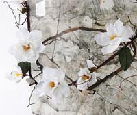 Wholesale silk magnolia flowers buy cheap silk magnolia flowers 8 photos wholesale silk magnolia flowers for sale artificial magnolia silk fake flower branch fleur artificielle flores mightylinksfo